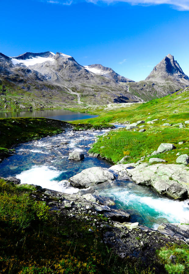 Download Little Lake In The Mountains On The Green Meadow Stock Image - Image: 21492271