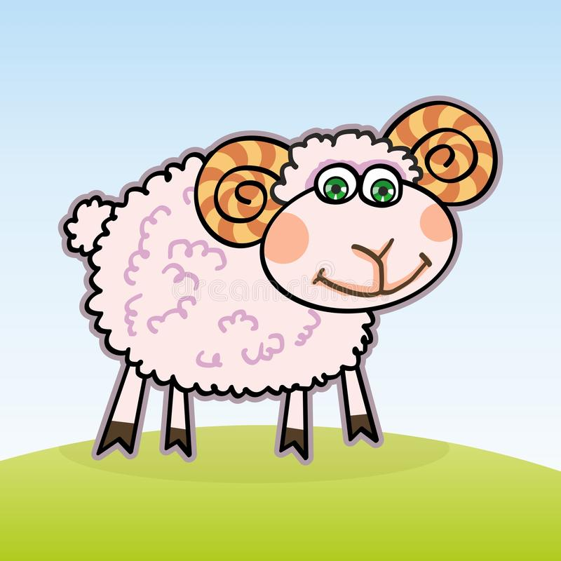 Little lamb. Clipart: a little lamb on a white background vector illustration