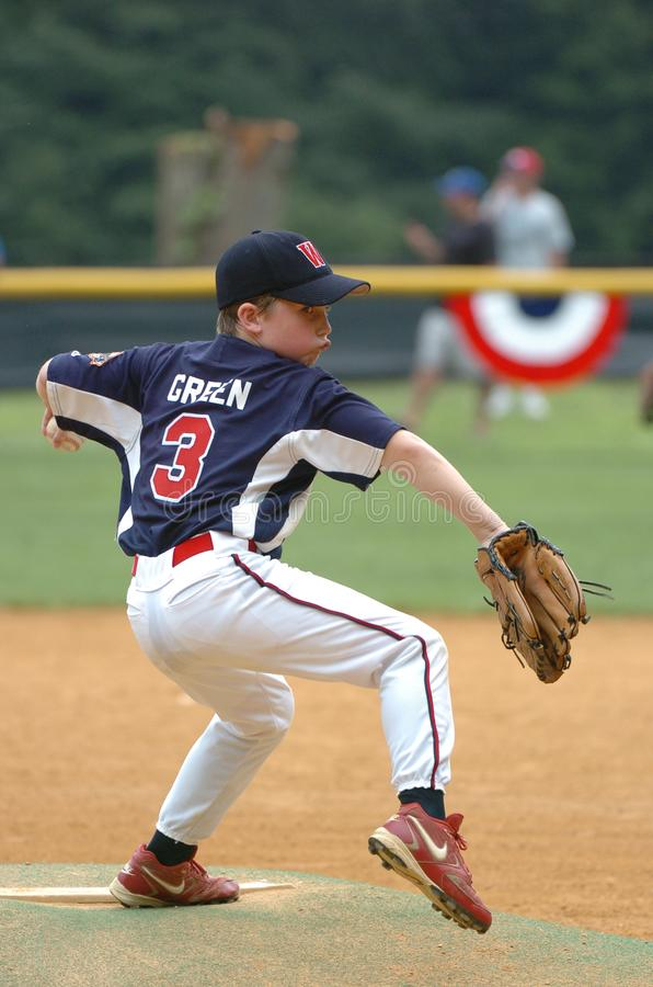 Little league Baseball. Little League Baseball game action being played in Central New Jersey in the East Coast of the United States royalty free stock photos