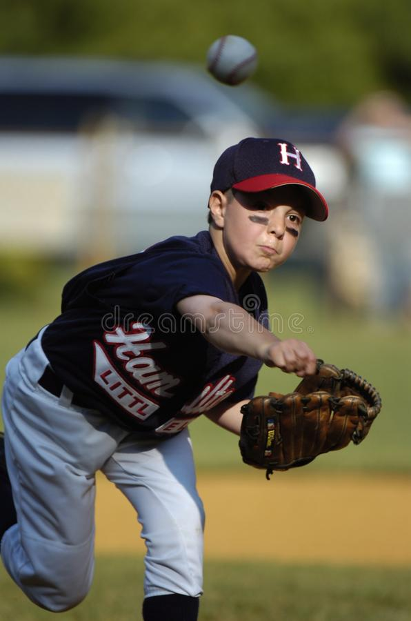 Little league Baseball. Little League Baseball game action being played in Central New Jersey in the East Coast of the United States royalty free stock image