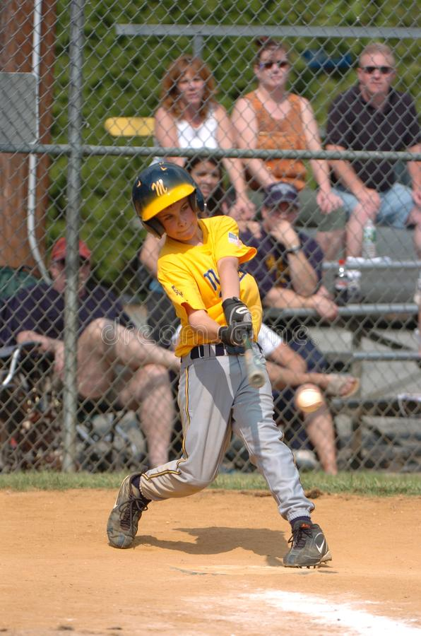 Little league Baseball. Little League Baseball game action being played in Central New Jersey in the East Coast of the United States royalty free stock photography