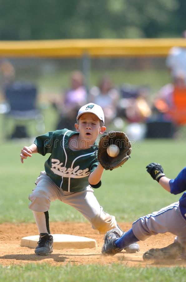 Little league Baseball. Little League Baseball game action being played in Central New Jersey in the East Coast of the United States stock image