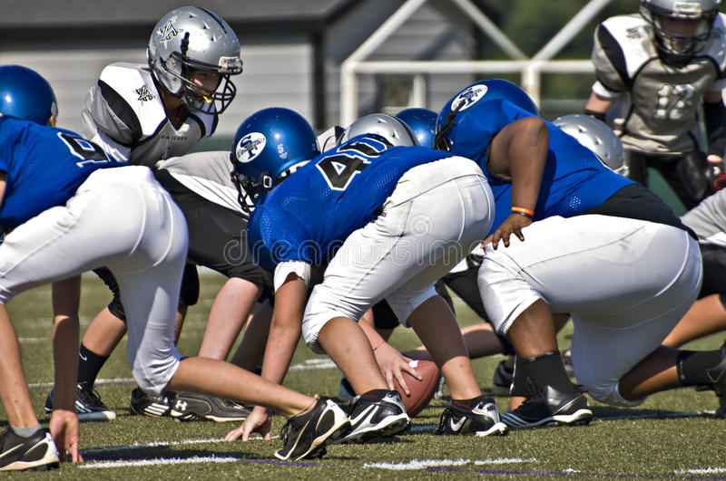 Download Little League Football, Close Up Line Of Scrimmage Editorial Stock Image - Image: 20921139