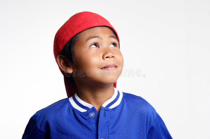 Download Little league player stock image. Image of wondering, expression - 187585