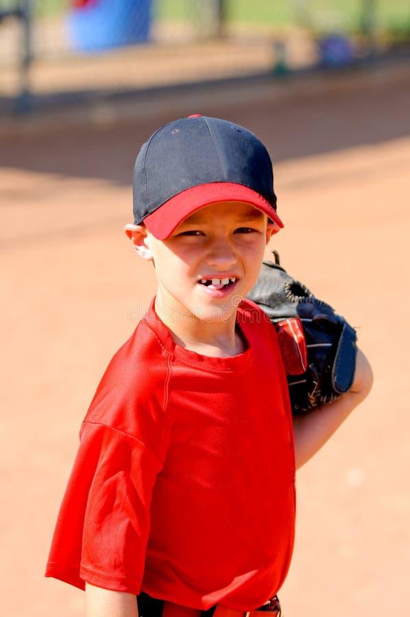 Little league baseball player up close. Little league player up close portrait royalty free stock photos