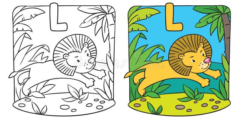 Coloring Book With Funny Koala Alphabet K Stock Vector