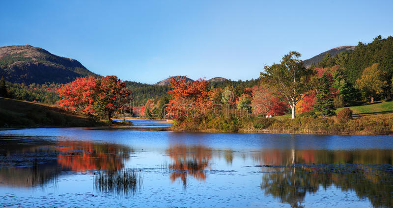 Little Long Pond Panoramic royalty free stock photos
