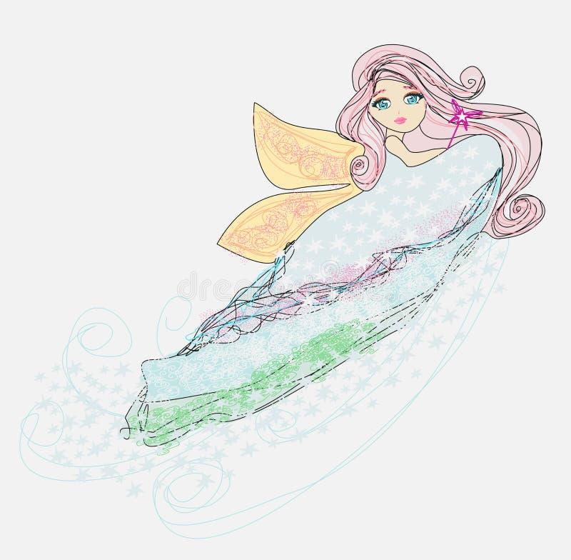 Little love fairy vector illustration