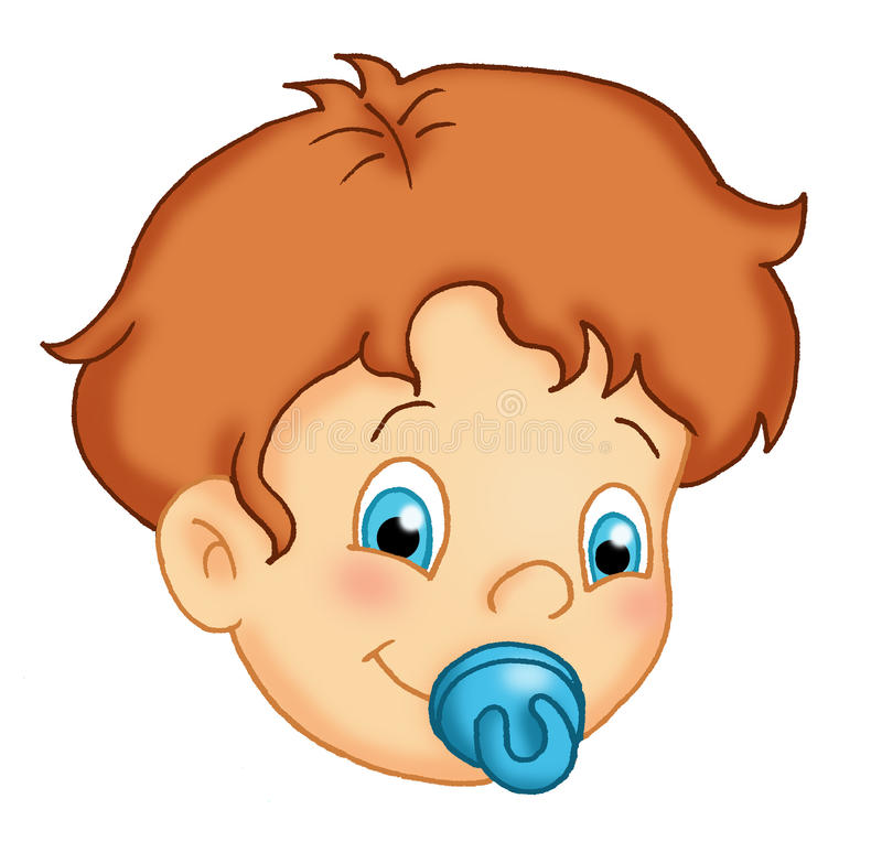 Download Little male child stock illustration. Image of colored - 13389411