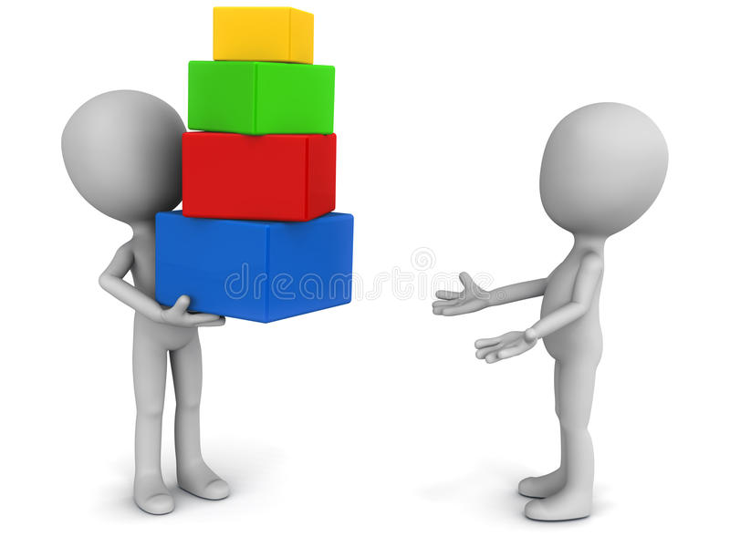 Receive gifts stock illustration