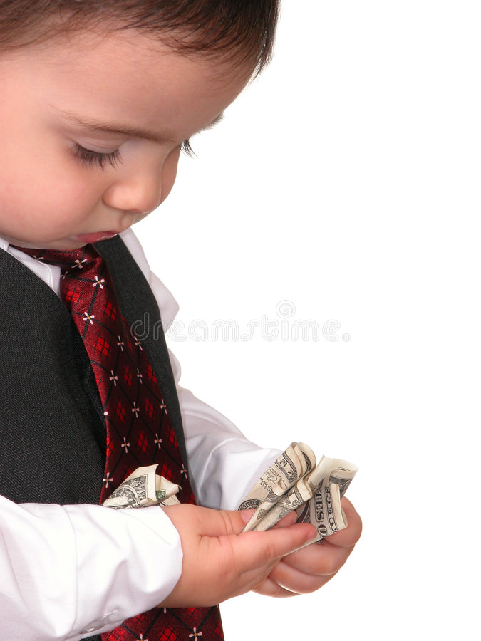 Download Little Man Series: Pay Day stock photo. Image of toddler - 25252