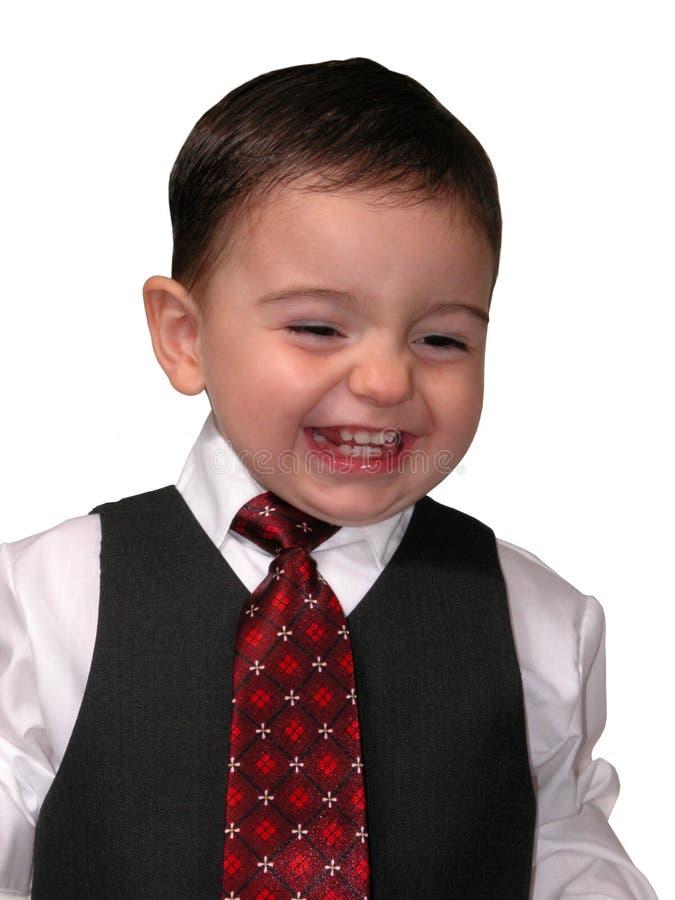 Little Man Series: Salesmen Grin stock photos
