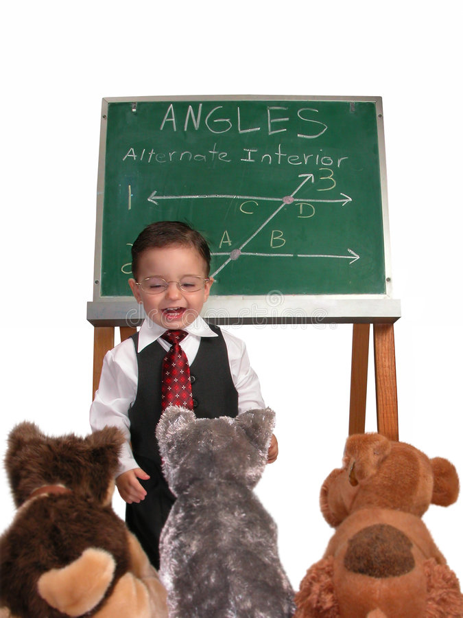 Little Man Series: Wrapping Up Class stock image