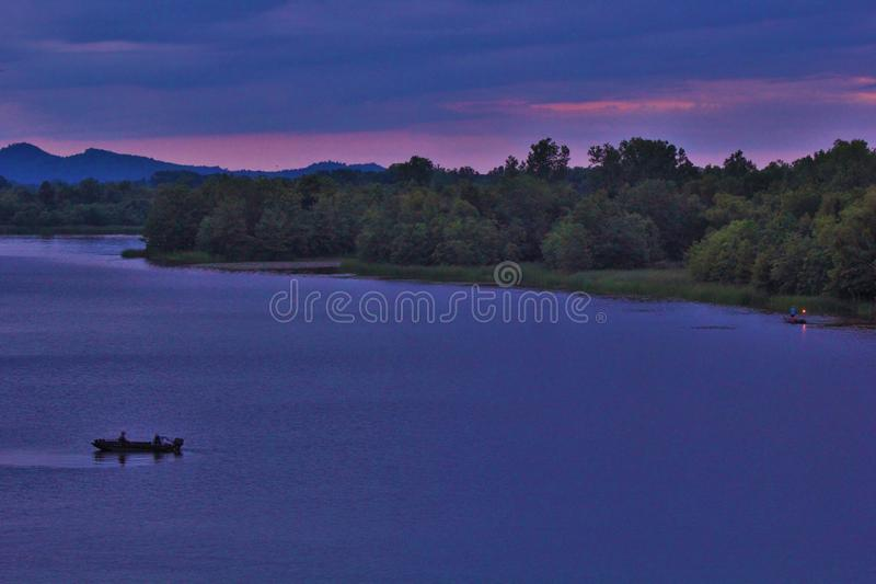 Little Maumelle River from Two Rivers Park Bridge stock image