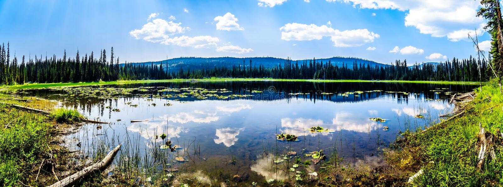 Little McGillivray Lake, near Sun Peaks in British Columbia, Canada. Little McGillivray Lake, a high alpine lake near the alpine village of Sun Peaks in the royalty free stock photography
