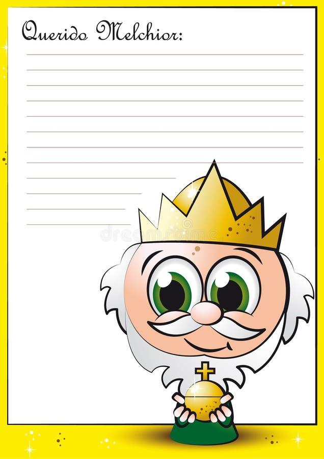 Download LITTLE MELCHIOR stock vector. Image of card, faith, melchior - 27388946