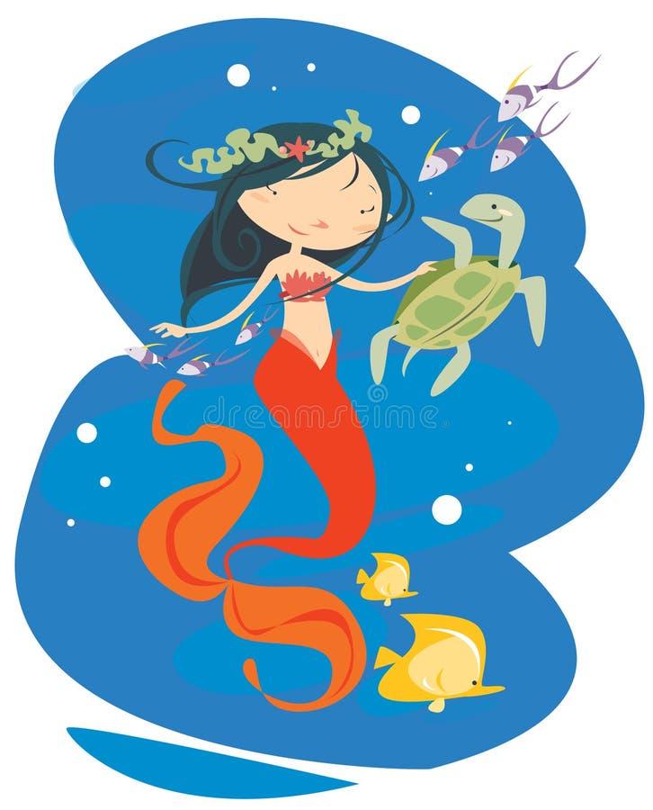 Little mermaid stock image