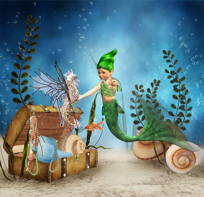 Little mermaid 4 stock de ilustración