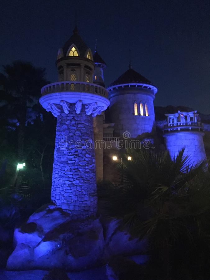 Little Mermaid Castle, Disney World, Orlando, Florida royalty free stock photo