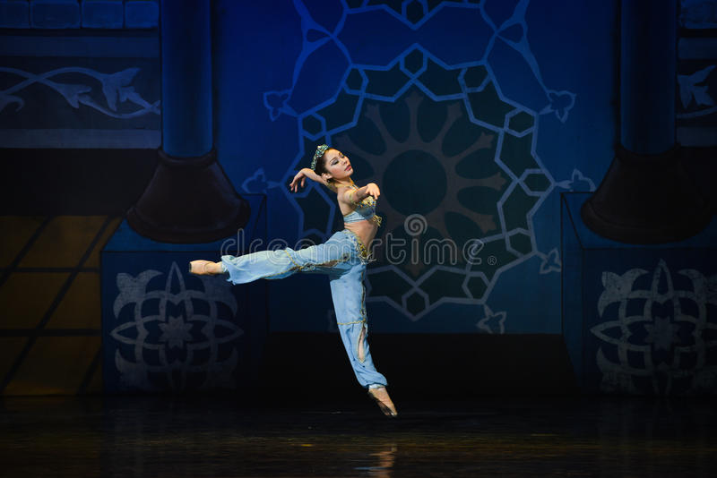 "The little mermaid diving- ballet ""One Thousand and One Nights"" stock image"