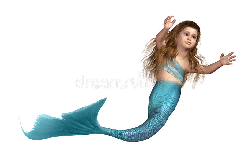 Little Mermaid Girl stock illustration