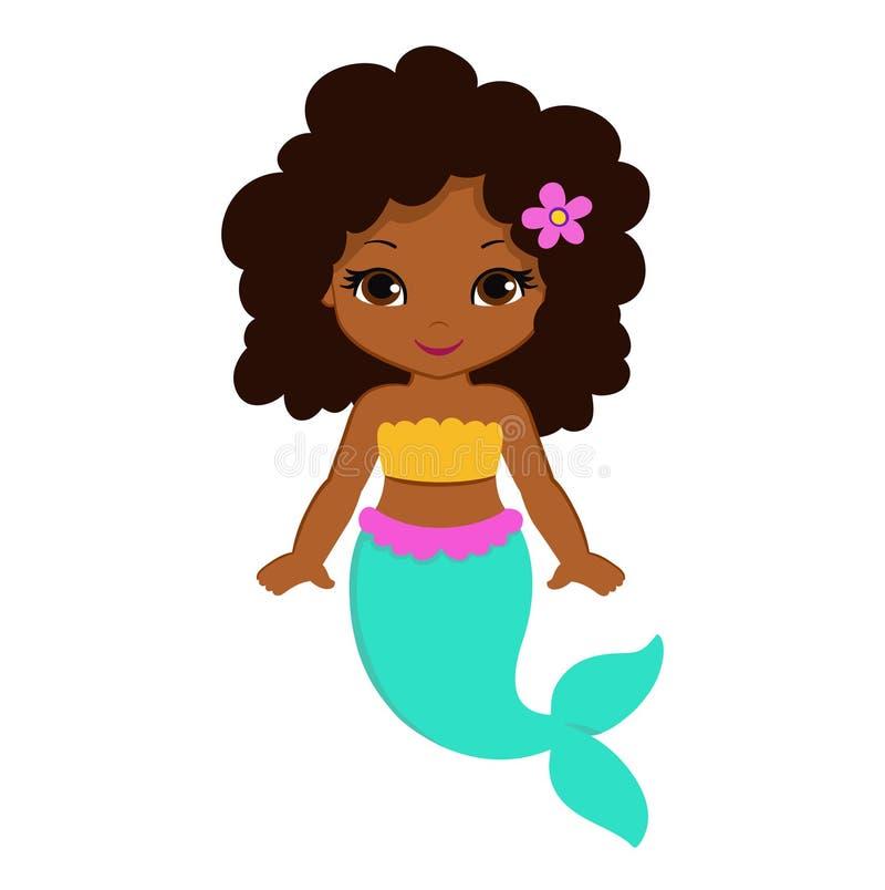 Little mermaid lindo Ilustración del vector imagenes de archivo