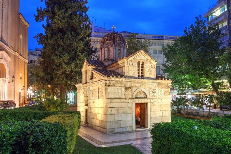 Little Metropolis, Atene, Grecia immagini stock libere da diritti