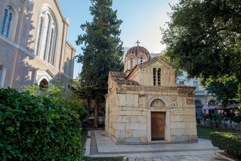 The Little Metropolis in Athens stock photos