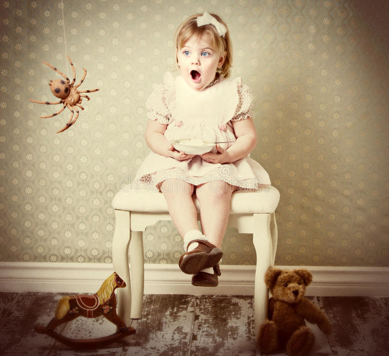 Little Miss Muffet stock image