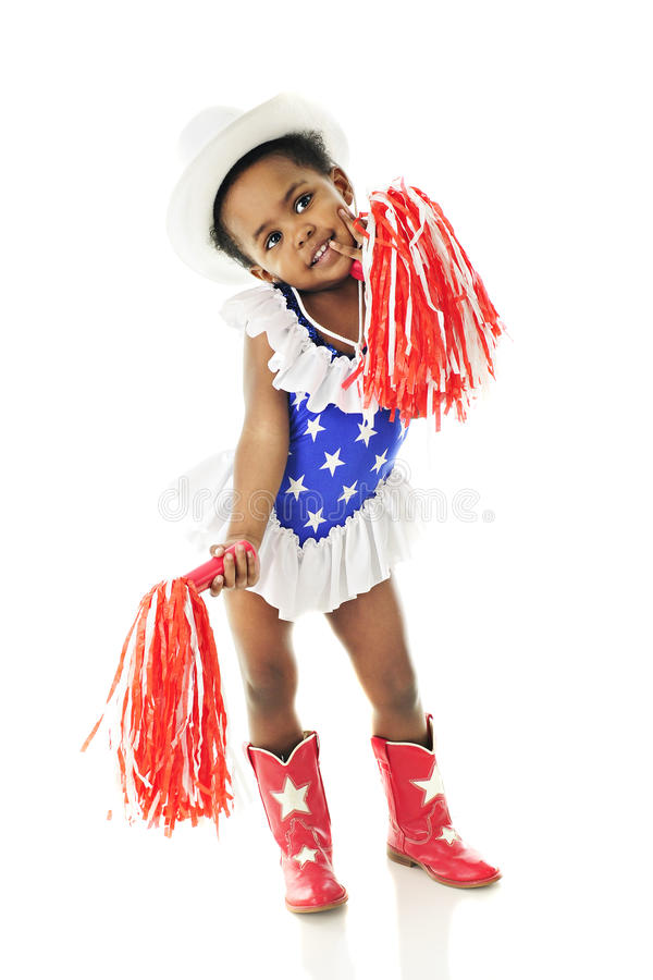 Little Miss Red, White and Blue stock photography