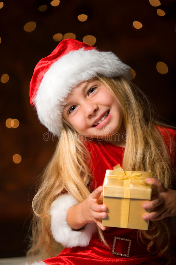 Download Little miss santa stock photo. Image of contemplative - 11537094