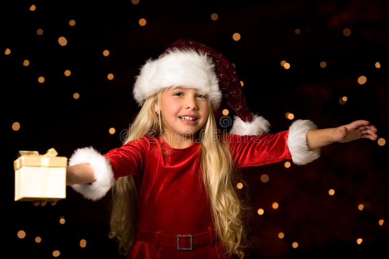 Download Little miss santa stock image. Image of child, dancing - 11547399