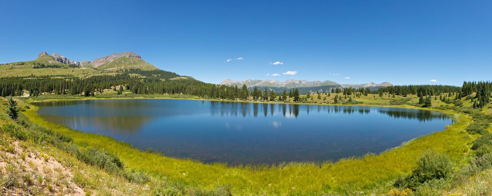 Little Molas Lake, Colorado royalty free stock photography
