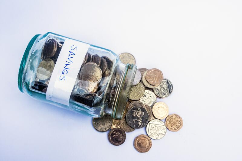A Little Money Put Aside royalty free stock images