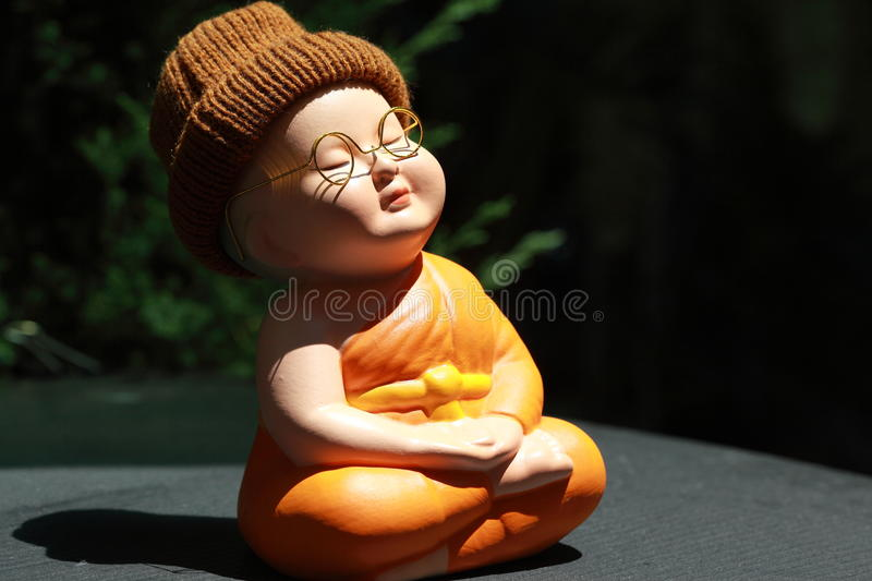 Download Little Monk Porcelain doll stock photo. Image of culture - 60720104