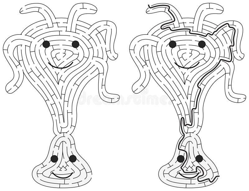 Little monster maze royalty free illustration