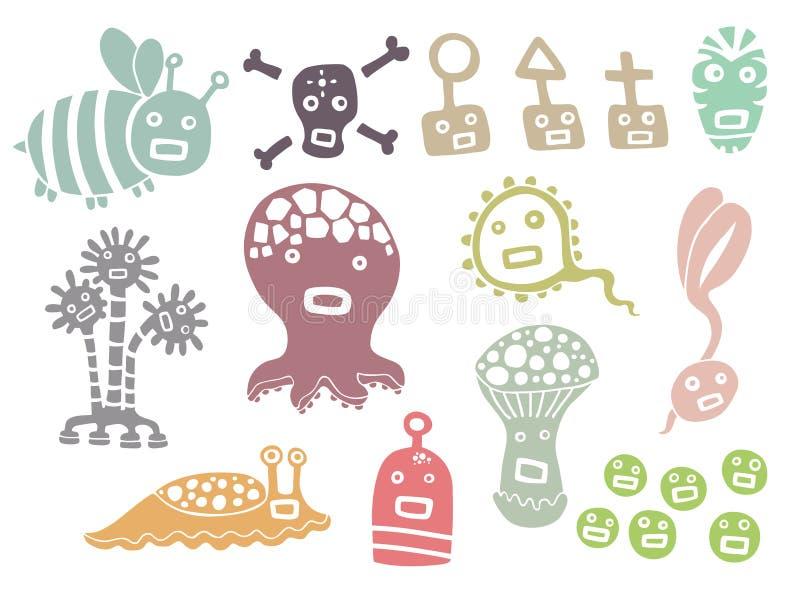 Little monsters stock illustration
