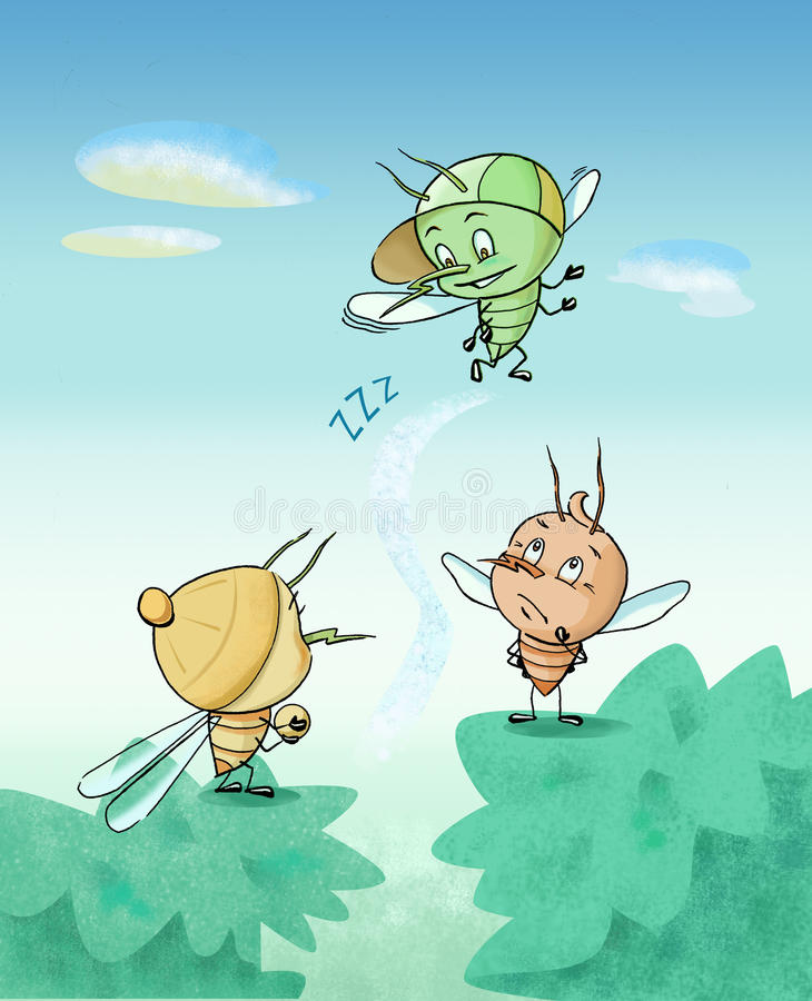 Little mosquitos royalty free stock photos