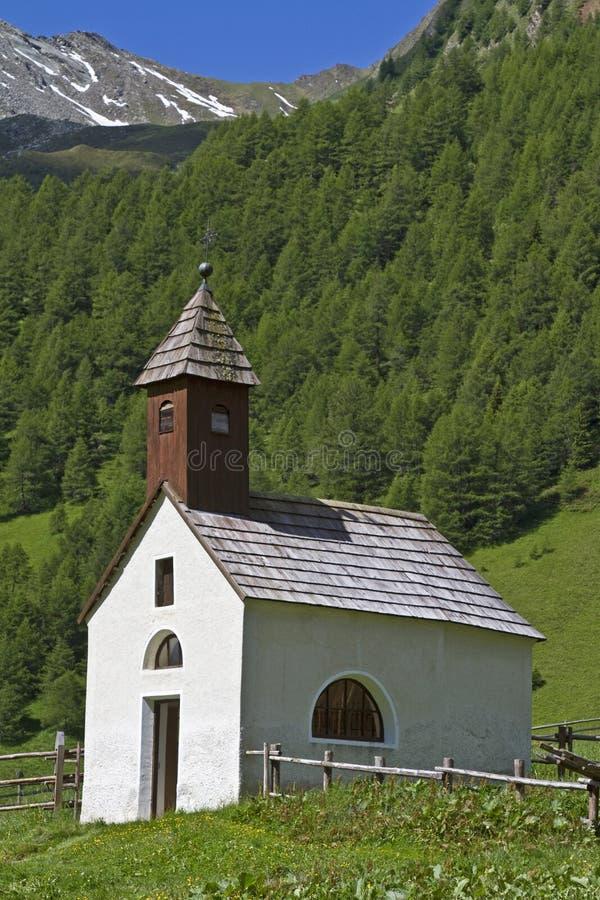 Little mountain chapel stock image