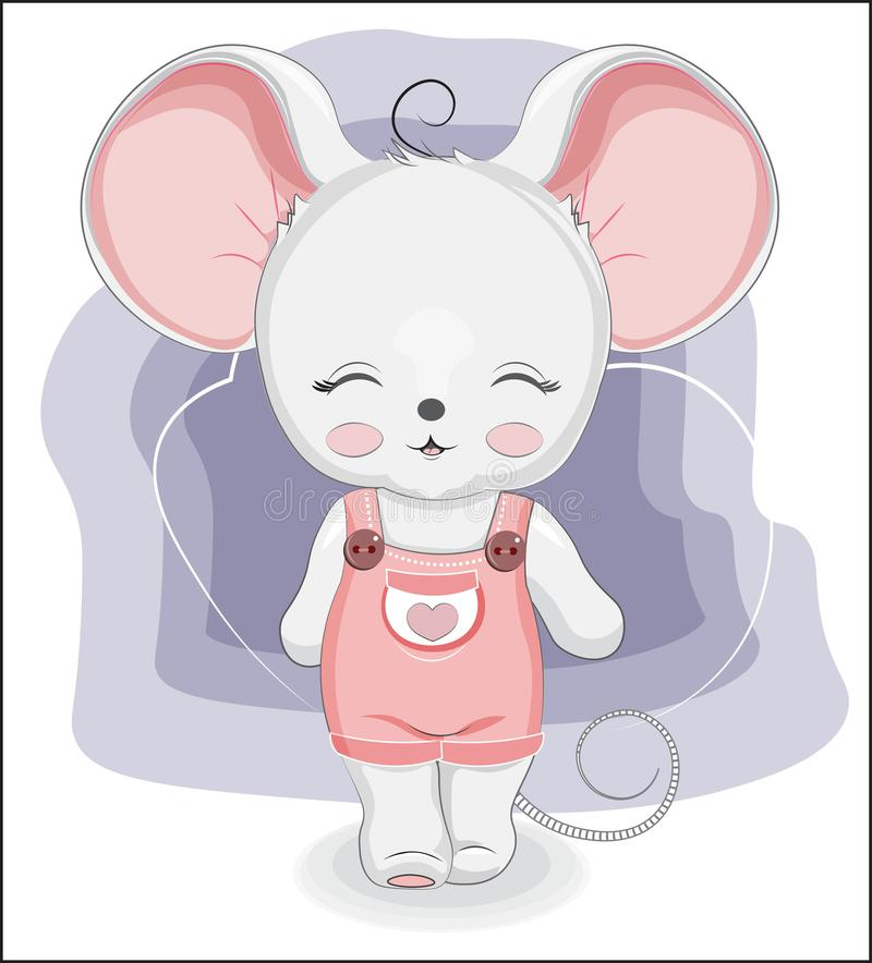 Little mouse girl walks royalty free stock images