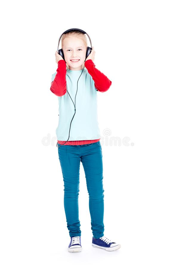 Little music lover royalty free stock photo