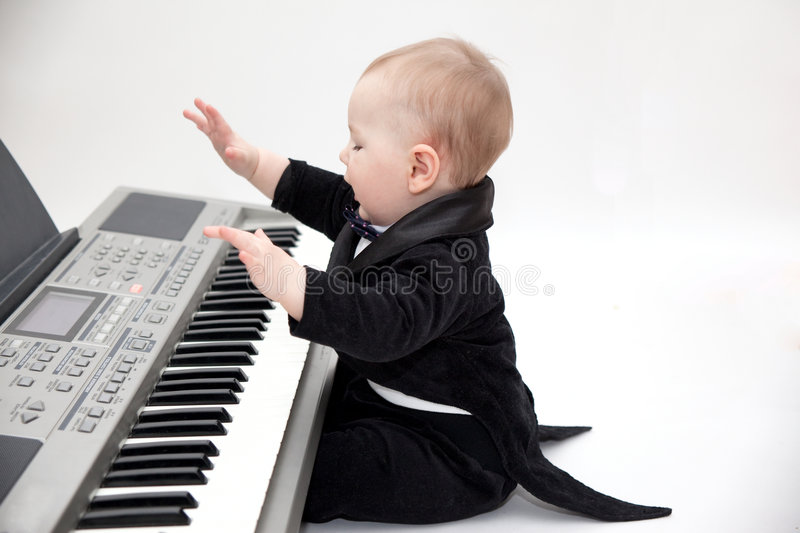 Little musician stock images