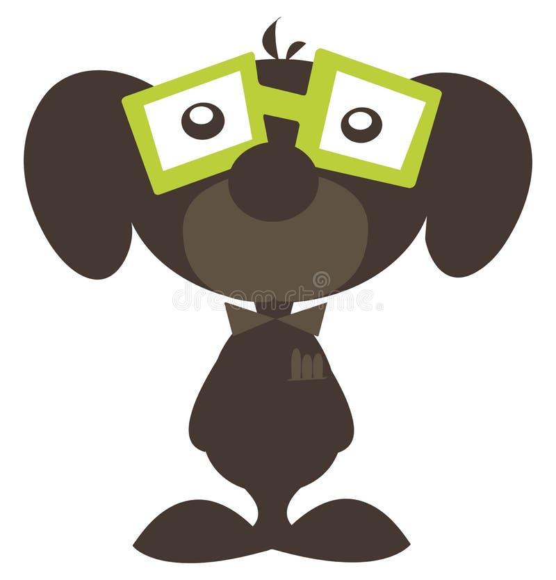 Download Little nerdy dog stock illustration. Image of dork, face - 24113920