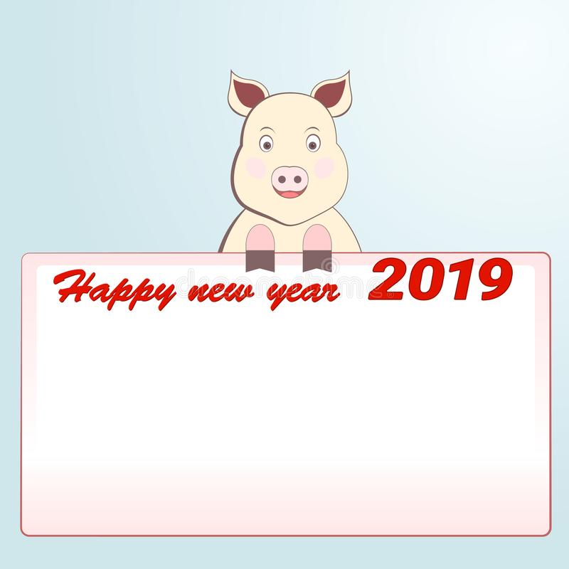 Little new year offers to write down the words. stock image