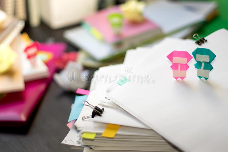 Little Ninja Kids Are Helping Your Work or Study.  royalty free stock photos
