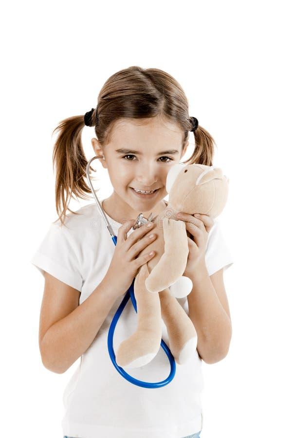 Little nurse stock image