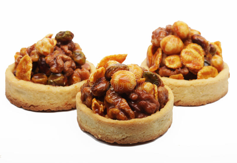 Download Little nuts tarts. stock image. Image of butter, color - 39697509