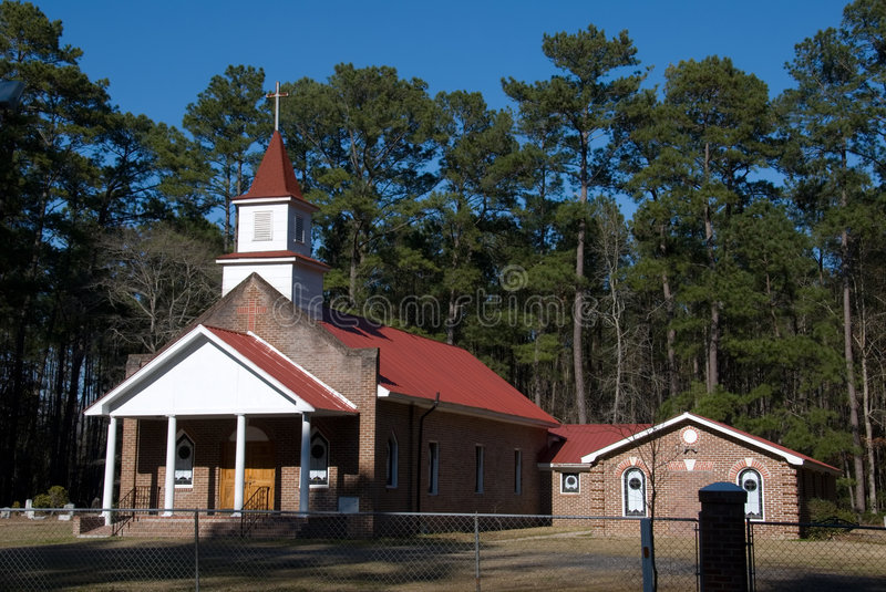 Little old church stock image
