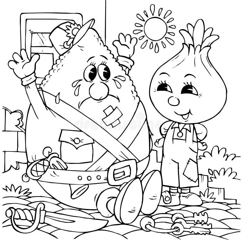 Download Little Onion and Lemon stock illustration. Illustration of outline - 14555162