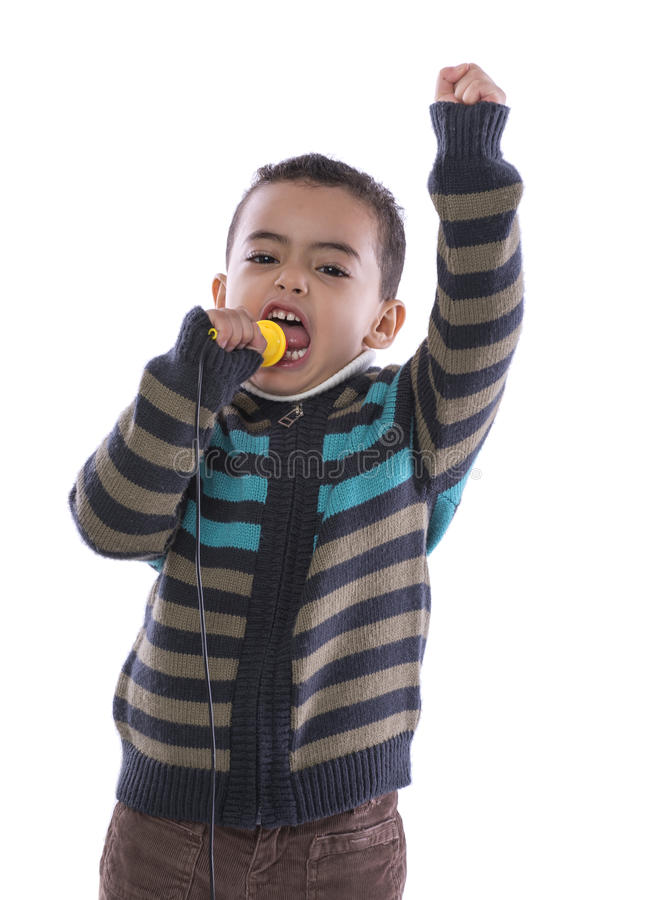 Little Orator with Enthusiastic Speech stock photography
